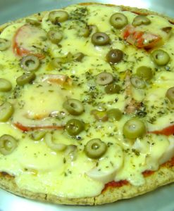 pizza de palmito